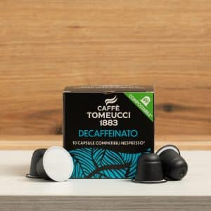 Decaffeinato in Capsule Compostabili compatibili Nespresso© | Caffè Tomeucci 1883